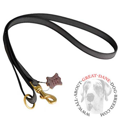 Comfortable I-Grip Nylon Great Dane Leash for Walking and Training