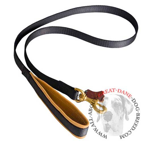 Stitched Nylon Great Dane Leash with Support Material
