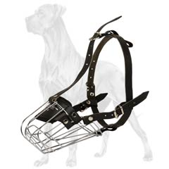 Stainless steel cage Great Dane muzzle