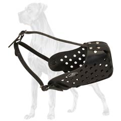 Great-Dane-Dog-Leather-Muzzle-Breathable-Strong