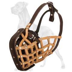 Durable Comfortable Leather Dog Muzzle