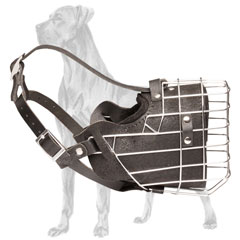 Multipurpose Basket Leather Great Dane Muzzle