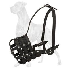 All-purpose basket muzzle for Great Dane