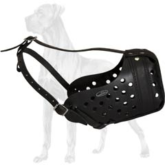 Great Dane Multipurpose Durable Leather Muzzle