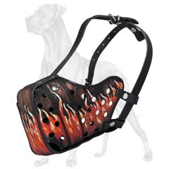 Comfy Padded Canine Muzzle for Great Dane Breed
